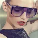 #Gucci #Purple #Studded #Plastic #Shield