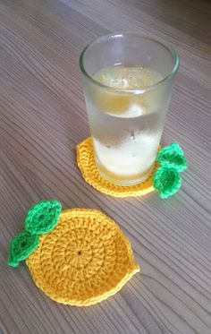 Crochet AF!: Lemon Coaster - free crochet pattern