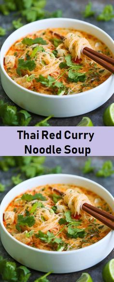 Thai Red Curry Noodle Soup - Food Menu Vegetarian Recipes, Cooking Recipes, Healthy Recipes, Vegetarian Noodle Soup, Healthy Soups, Grilling Recipes, Curry Noodles, Thai Noodles, Soup With Noodles