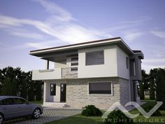 Bungalow House Design, Design Case, Small House Plans, Home Fashion, My Dream Home, Exterior, Mansions, Mica, Architecture