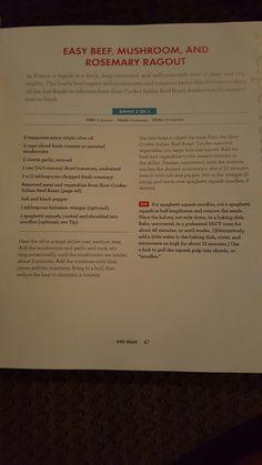 Beef, mushroom, & rosemary ragout