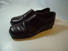 Women's Ecco Shoes Cordovan Brown/Dark Burgundy Leather Slip-On Loafer 6.5  #ECCO #Slipons