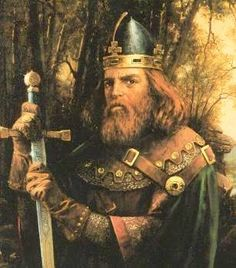 Uther Pendragon...ancient mythical king who ruled England before his son Arthur