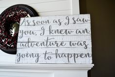 Love this one!!  Distressed Wood Sign Reclaimed Wood Sign by JoaniesFavoriteThing https://www.etsy.com/listing/239631654/distressed-wood-sign-reclaimed-wood-sign?ref=shop_home_active_1