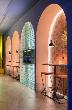 Gallery of Mino Osteria Restaurant / Vanessa Larré Arquitetura  - 2 Cafe Shop Design, Restaurant Interior Design, Commercial Interior Design, Office Interior Design, Commercial Interiors, Store Design, Architecture Restaurant, Interior Architecture, Design Bar Restaurant
