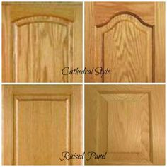 how to update oak or wood cabinets cathedral or raised panel
