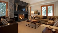 fireplace rec room pool table | Kadenwood 2939 Whistler Vacation Rental Home | Luxury Ski Chalets in ...