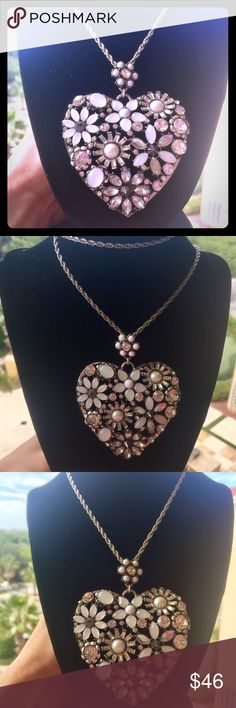 Betsey Johnson Silver Cluster Heart Necklace NWT Betsey Johnson Silver Cluster Heart Necklace Betsey Johnson Jewelry Necklaces
