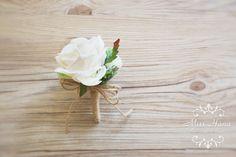 Rustic Boutonniere Hydrangea Pinecone by MissHanaFloralDesign