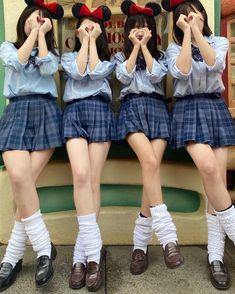 Brown Loafers, Uzzlang Girl, High School Girls, Cute Asian Girls, Slim Waist, Miranda Kerr, Disney Girls, School Uniform, Cosplay Girls