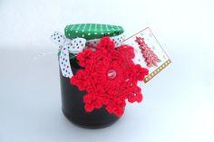 Crochet Pattern-Red Snowflake Pattern-Christmas by ElenaBoTi