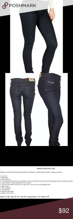 Jeans DIÉSEL Sz 31 Livier Super Slim Jegging NWT BRAND NEW WITH TAG DIESEL LIVIER SUPER SLIM JEGGINGS in Indigo-Rinse- Ultra dark blue wash. Please refer to the pictures for more details and descriptions. Diesel Jeans Skinny