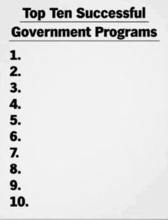 TOP 10 GOVERNMENT
