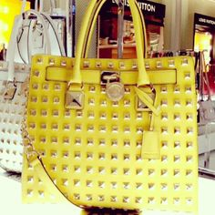 Spotted in Store: What a stud! MICHAEL KORS #bag #purse #studs BUY NOW!