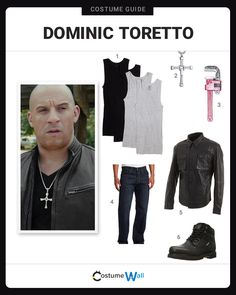 """The best costume guide for dressing up like Dominic """"Dom"""" Toretto, the elite street racer from The Fast and the Furious movies."""