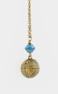 Necklace Traveler's Necklace Brass Globe