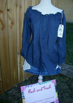 Upcycled Recycled Western Pearl Snap Shirt Women's by libbyjoy1, $30.00