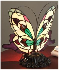 Multi Colored Tiffany Butterfly Lamp  in Spring Big Book Pt 2 from Fingerhut on shop.CatalogSpree.com, my personal digital mall.