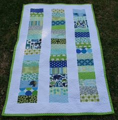 Stacked Coin Baby Quilt
