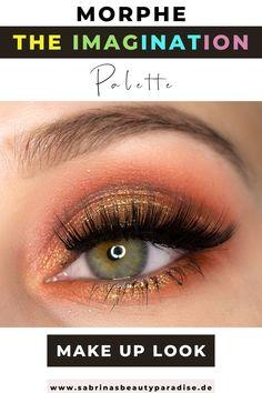 Morphe x Maddie Ziegler The Imagination Palette glamouröses Augen Makeup. Augen Make-up Inspiration mit der neuen Morphe Eyeshaow Palette. Augen Makeup Look mit Glitter in Gold für grüne Augen.