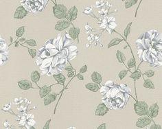 A.S Bali 95481-2 Tapete Vinyl auf Vlies Floral braun beige weiß blau (2,49€/m) in Heimwerker, Farben, Tapeten & Zubehör, Tapeten   eBay