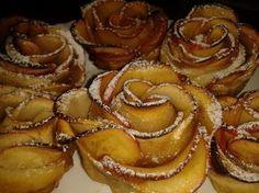 Překvapte své hosty s luxusními růžičkami. Budete potřebovat listové těsto, jablka, ...