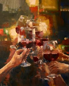 Check out this great photo of wine art prints and many other interior design ideas at A Creative Mom Wine Painting, Oil Painting Abstract, Abstract Art, Formalism Art, Cool Glow, Wine Poster, Arte Sketchbook, Wine Art, Impressionist Art