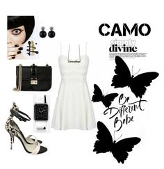 """be different in camo"" by agnesmakoni ❤ liked on Polyvore featuring Sophia Webster, Valentino, Casetify, Patrizia Pepe and camostyle"