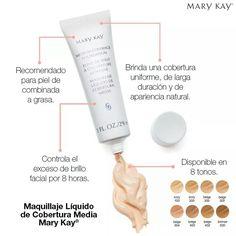 Maquillaje líquido cobertura media Mary Kay