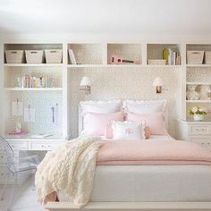 Kids Built In Bed With Drawers - Design photos, ideas and inspiration. Amazing gallery of interior design and decorating ideas of Kids Built In Bed With Drawers in bedrooms, girl's rooms, boy's rooms by elite interior designers. Big Girl Bedrooms, Teen Girl Rooms, Little Girl Rooms, Girls Bedroom, Desk For Girls Room, Cool Girl Rooms, Master Bedroom, Room Ideas Bedroom, Bedroom Decor