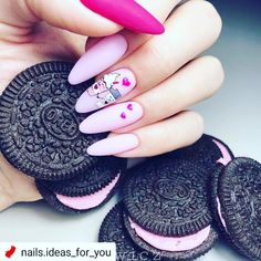 35 Beautiful Pink Nail Designs Trying to find new and colorful nail art designs can be a struggle. Trying to think of original ideas is time-consuming, especially in summe Really Cute Nails, Cute Pink Nails, Pink Nail Art, Fun Nails, Glitter Nails, Pretty Nail Art, Cute Nail Art, Nail Art Designs, Design Art