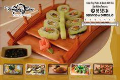¿Se te antojo comer sushi? No busques más Temaki Zen te invita a probar sus deliciosos platillos que son novedades del chef y deleitate con su excelente sabor. También puedes pedir a domicilio 9555534 Visitanos en Fray Pedro de Gante norte #420 Colonia San Mateo Texcoco. https://www.facebook.com/temaki.zen?fref=ts