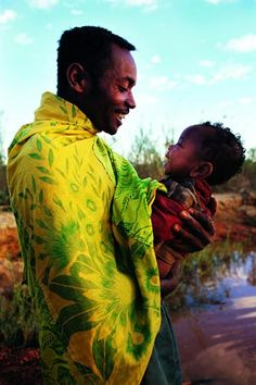 Father and son - by South African photographer Louise Gubb