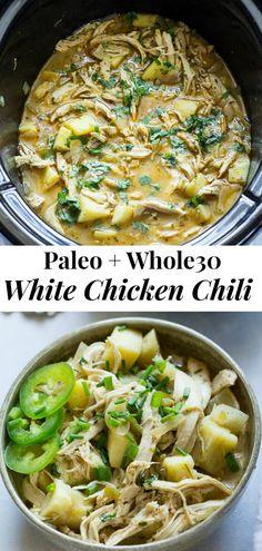 Healthy Slow Cooker, Slow Cooker Soup, Slow Cooker Chicken, Slow Cooker Recipes, Paleo Recipes, Cooked Chicken, Fodmap Recipes, Soup Recipes, Paleo Sweet Potato