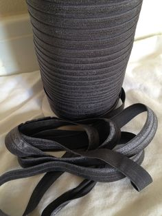 New to LaBellaRoseBoutique on Etsy: Charcoal FOE elastic 5/8 inch (Sold by the yard) Gray stretch elastic for hair accessories Perfect for DIY Headbands crafts and clothing (1.00 USD)