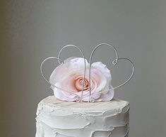HEARTS Silver Wedding Cake Topper Special Events Decoration