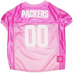 Collar Planet - Green Bay Packers NFL Licensed Pink Dog Football Jersey (http://www.collarplanetonline.com/green-bay-packers-nfl-licensed-pink-dog-football-jersey/) Show support for the Green Bay Packers with this great looking pink dog jersey