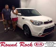 Congratulations to Melissa & Juan Gonzalez on your new car  purchase from Ruth Largaespada at Round Rock Kia! #NewCar
