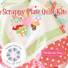 Scrappy Plate Quilt Kit Featuring the Scrappy Plate quilt project by Bunny Hill Designs - Fat Quarter Shop