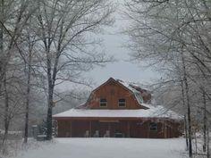 Winter at Soap Creek Lodge, Unionville, Iowa.