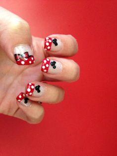 Disney nails Cool. Dandelion nails , Baseball nails⚾#baseball #nails #red #white Adore these chevron nails. #nails #nailart #pinknails #sparkly #beautifulfingers #prettyhands #nailsdone #usa #inspired #nailart #manicure - for more #beauty #inspiration, MyBeautyCompare Pinterest #rednails #stripes #glossy #americanbeauty #glamnails #sparkly #beautifulfingers #prettynails #prettyhands #summernails