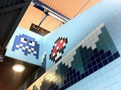 8-bit artwork in a Swedish subway station - so cool!!!!