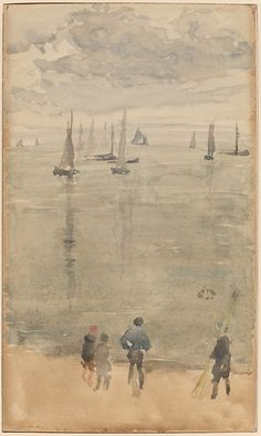 """tierradentro: Born on this day (07/11/1834): James McNeill Whistler. """"The Return of the Fishing Boat"""", c.1885."""