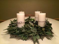 Adventskrans af eucalyptus 2015