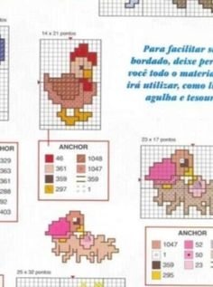 Cross Stitch Tiny Chicken