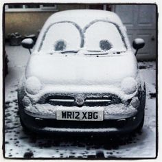 #Fiat500 enjoying the snow.