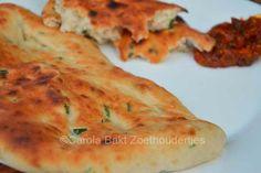 Naanbrood met knoflook en koriander - Carola Bakt Zoethoudertjes