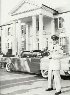 Elvis Presley and his 1958 Lincoln Continental Mark III Convertible