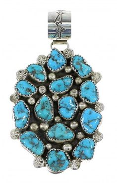 Sterling Silver Turquoise Navajo Pendant www.silvertribe.com