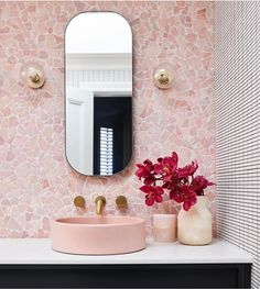 habitaciones de hotel ood Co would like to thank bellemagazineau for the feature of our Bowl Sink in blush pink. Congrats to lbinteriors for this incredible Deco Rose, Pink Tiles, Laundry In Bathroom, Bathroom Pink, Bathroom Marble, Bathroom Goals, Bathroom Cabinets, Master Bathroom, Bathroom Interior Design